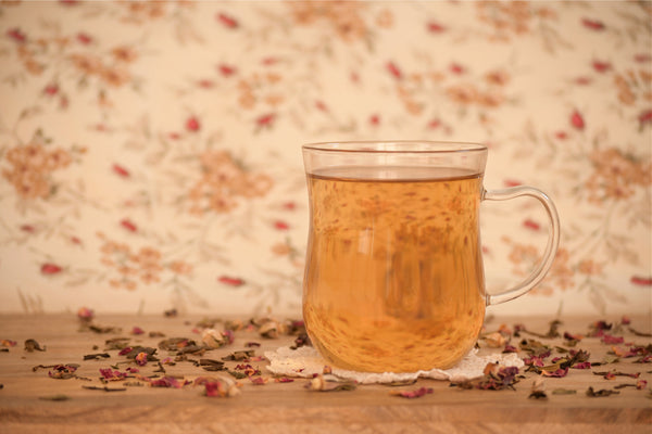 """Ever Blessed"" Rose Petal White Tea, Organic Loose Tea"