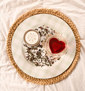 """Love Potion"" Organic Hibiscus Jasmine Green Tea, Loose Tea"