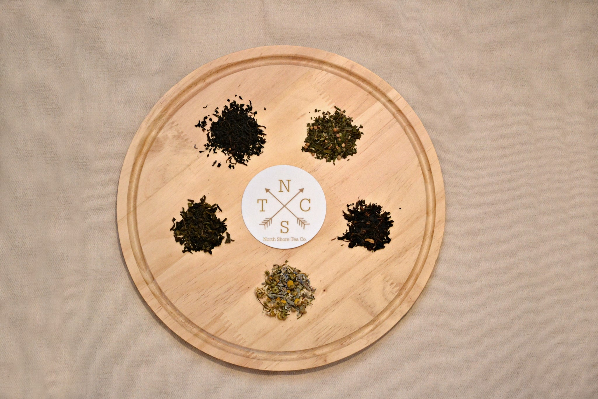 """The Tea Flight"" - 5 Assorted Tea and Herbal Tisane Samplers, Loose Tea"