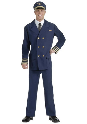 ADULT AIRLINE PILOT COSTUME