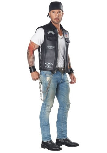 BIKER VEST COSTUME FOR ADULTS