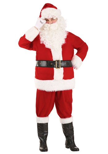 Holiday Santa Claus Costume for Adults