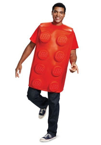 LEGO ADULT RED BRICK COSTUME