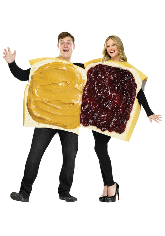 ADULT PEANUT BUTTER AND JELLY COSTUME