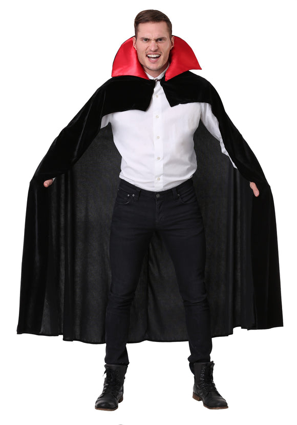 ADULT RED VAMPIRE CLOAK COSTUME