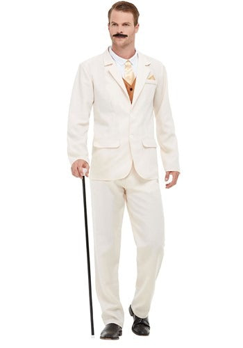 ADULT ROARING 20S GANGSTER WHITE COSTUME