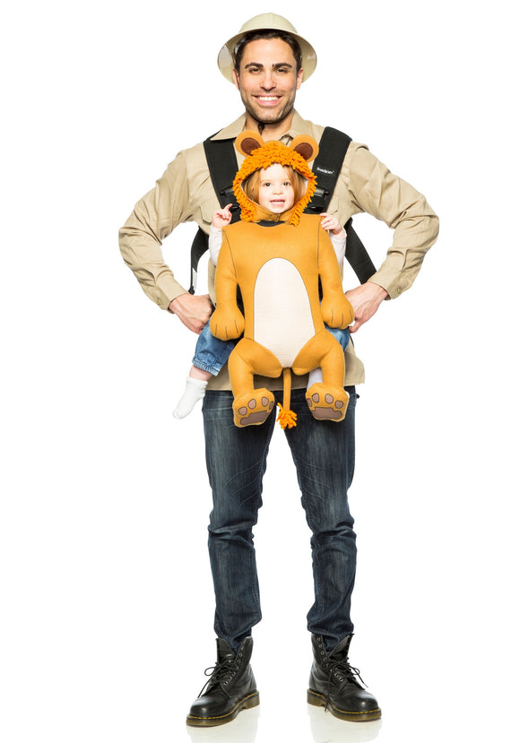 ADULT SAFARI GUIDE AND BABY LION COSTUME
