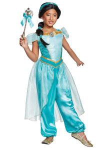 ALADDIN ANIMATED DELUXE JASMINE COSTUME FOR GIRLS
