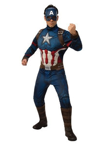 DELUXE AVENGERS ENDGAME CAPTAIN AMERICA MEN'S COSTUME