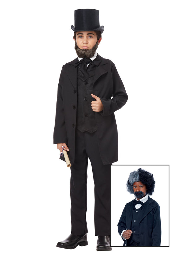 BOYS ABRAHAM LINCOLN/ FREDERICK DOUGLASS COSTUME