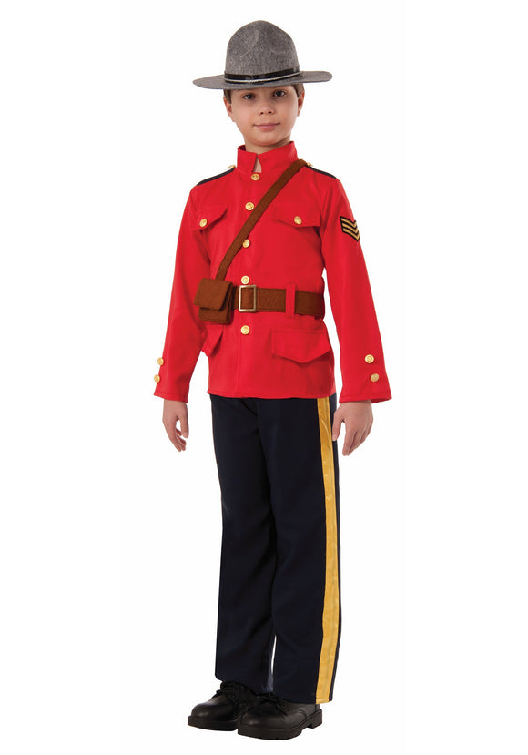 BOYS CANADIAN MOUNTIE COSTUME