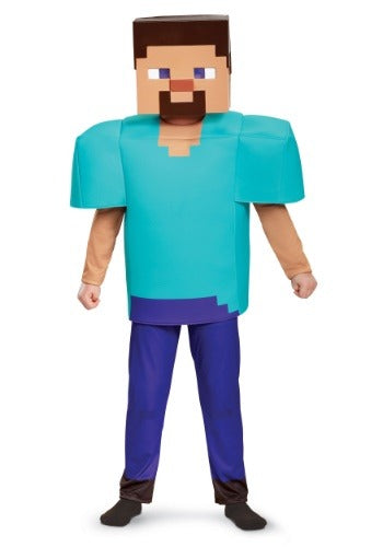 Minecraft Steve Deluxe Costume Boys