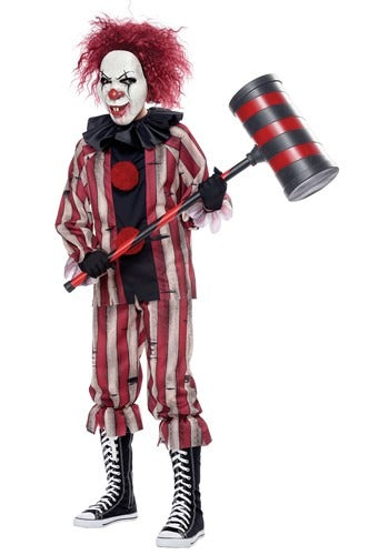 Boys Evil Nightmare Clown Costume