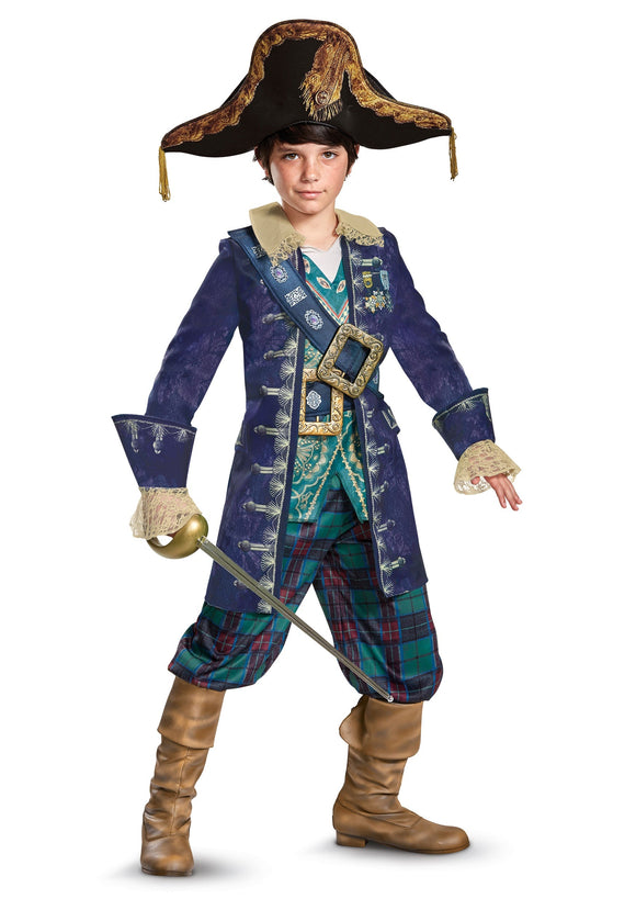 DELUXE CAPTAIN BARBOSSA BOYS COSTUME