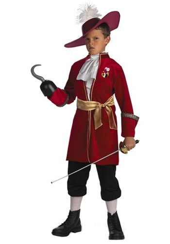 Captain Hook Costumes CHILD CAPTAIN HOOK COSTUME