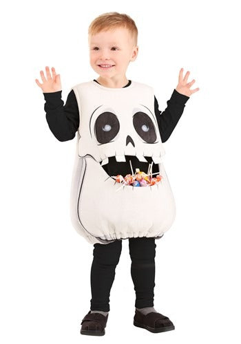 Kids Feed Me Skeleton Costume