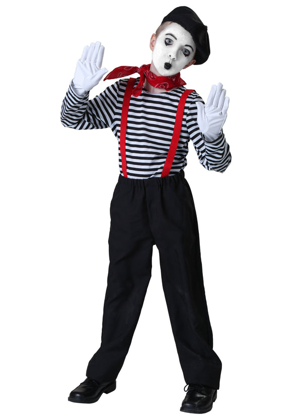 CHILD MIME COSTUME