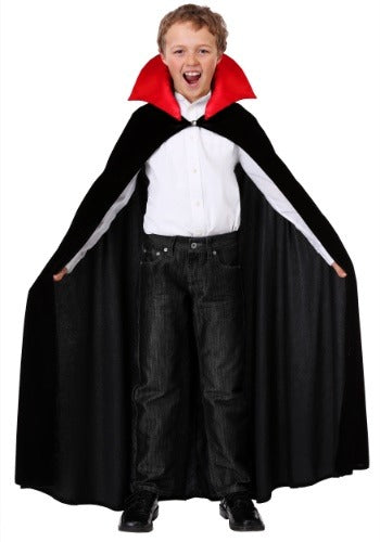 Child's Red Collar Vampire Cloak Costume
