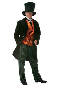 GREEN DELUXE ADULT MAD HATTER COSTUME