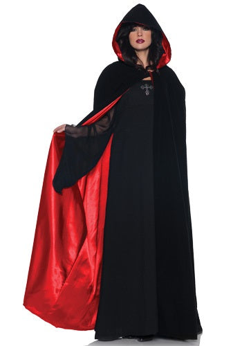 Deluxe Velvet Cape w/ Red Satin Lining