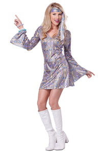 WOMEN'S DISCO SENSATION DRESS COSTUME