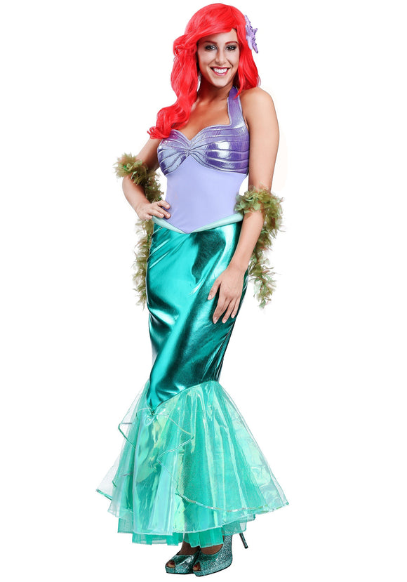 DELUXE DISNEY LITTLE MERMAID ARIEL WOMEN'S COSTUME