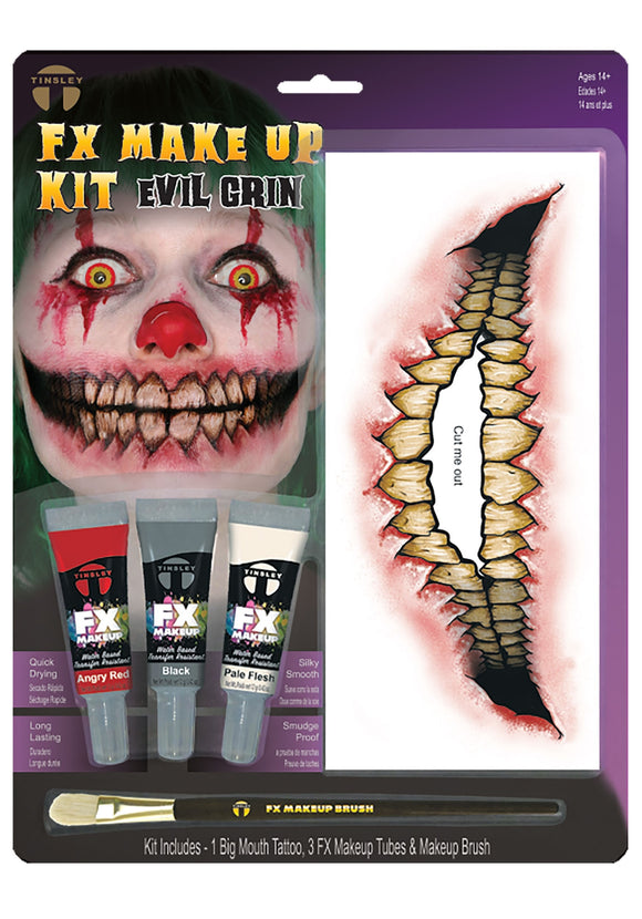 EVIL CLOWN FX TATTOO KIT