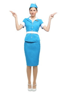FLIGHT ATTENDANT WOMEN'S COSTUME