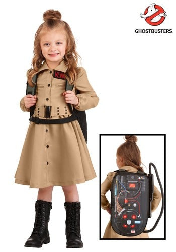 GIRLS GHOSTBUSTERS TODDLER COSTUME DRESS