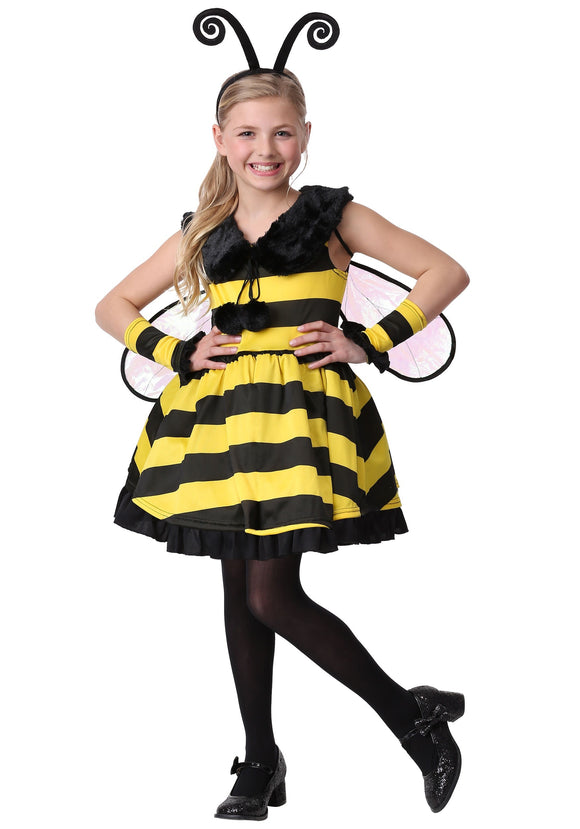GIRLS DELUXE BUMBLE BEE COSTUME