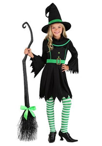 Emerald Girl's Witch Costume