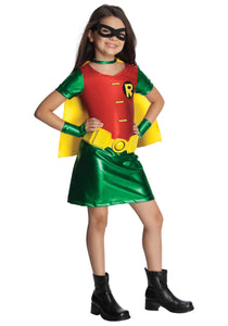 GIRLS TITANS ROBIN COSTUME