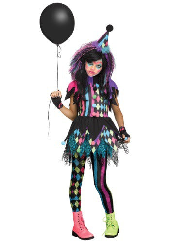 Twisted Circus Clown Girls Costume
