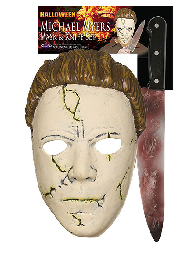 HALLOWEEN RESILIENT MICHAEL MYERS MASK AND KNIFE SET