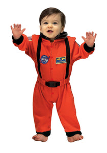 INFANT ORANGE ASTRONAUT ROMPER COSTUME