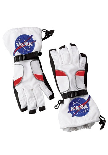 KIDS WHITE ASTRONAUT GLOVES
