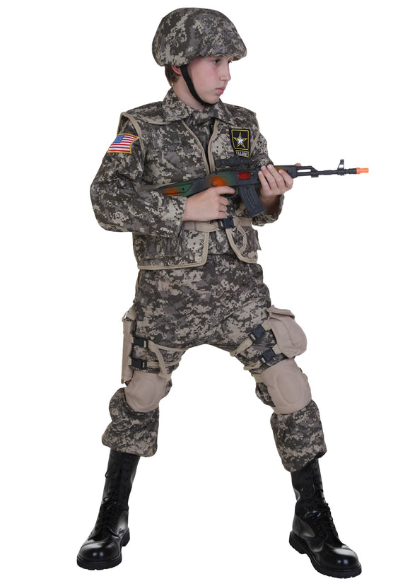KIDS DELUXE ARMY RANGER COSTUME