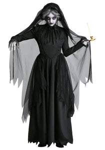 LADY IN BLACK GHOST COSTUME