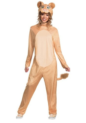 DISNEY ANIMATED LION KING WOMEN'S NALA JUMPSUIT COSTUME