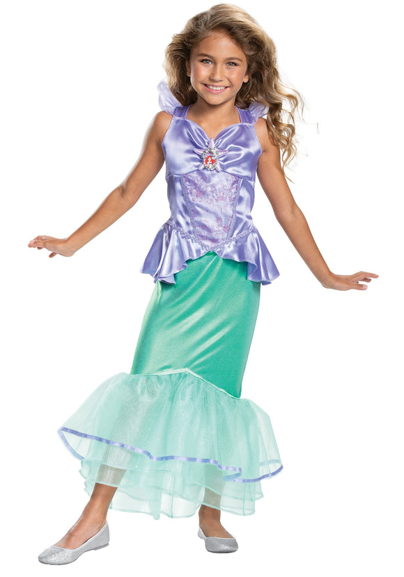 LITTLE MERMAID ARIEL CLASSIC COSTUME FOR GIRLS