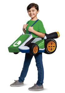 SUPER MARIO KART: KIDS LUIGI RIDE IN COSTUME