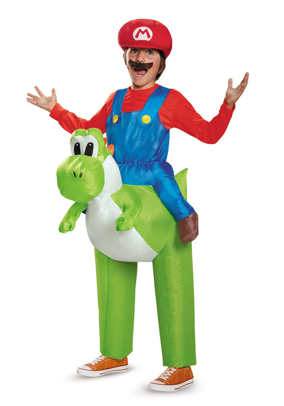 MARIO RIDING YOSHI CHILD COSTUME