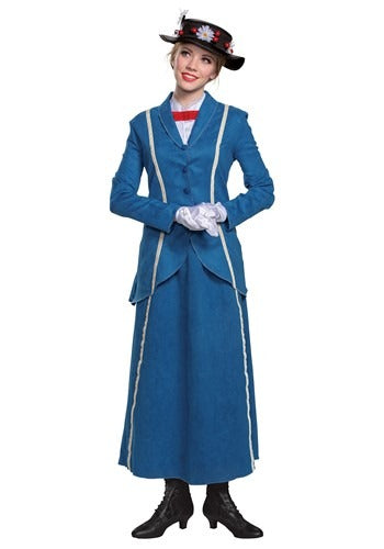 WOMEN'S MARY POPPINS BLUE COAT COSTUME