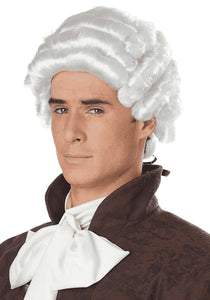 MEN'S WHITE COLONIAL WIG