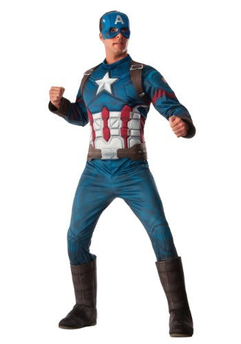 DELUXE CAPTAIN AMERICA MEN'S COSTUME