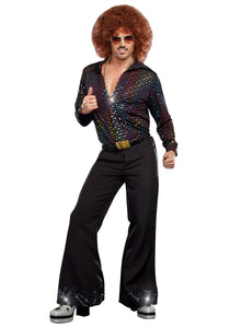 MEN'S DISCO DUDE SHIRT COSTUME