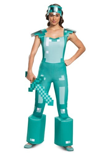 FEMALE MINECRAFT ARMOR COSTUME