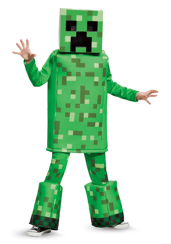 MINECRAFT PRESTIGE CREEPER BOYS COSTUME