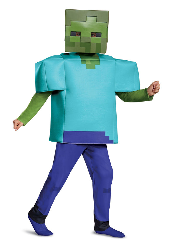 MINECRAFT DELUXE ZOMBIE COSTUME FOR KIDS