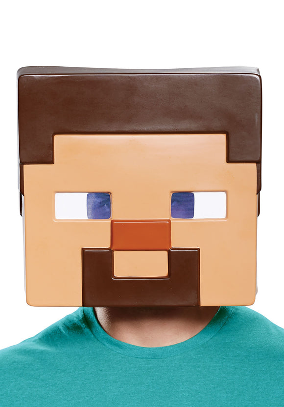 MINECRAFT STEVE FULL-FACE MASK FOR ADULTS.